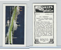 "R0-0 Reddings Tea, Ships Of The World, 1963, #15 S.S. ""Serenia"""
