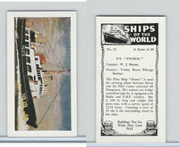 "R0-0 Reddings Tea, Ships Of The World, 1963, #17 P.V. ""Patrol"""