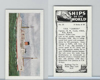 "R0-0 Reddings Tea, Ships Of The World, 1963, #23 T.S.S. ""Camito"""