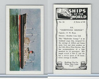 "R0-0 Reddings Tea, Ships Of The World, 1963, #24 S.S. ""Hardwicke Grange"""
