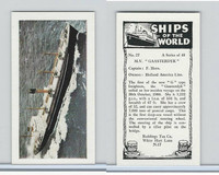 "R0-0 Reddings Tea, Ships Of The World, 1963, #27 M.V. ""Gaasterdyk"""