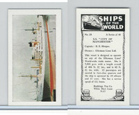"R0-0 Reddings Tea, Ships Of The World, 1963, #28 S.S. ""City of Manchester"""