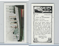 "R0-0 Reddings Tea, Ships Of The World, 1963, #31 M.V. ""City of Eastbourne"""