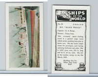 "R0-0 Reddings Tea, Ships Of The World, 1963, #33 M.V. ""Black Prince"""