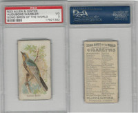 N23 Allen & Ginter, Song Birds of the World, 1890, Audubons Warbler, PSA 3 VG