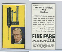 F0-0 Fine Fare Tea, Inventions & Discoveries, 1962, #20 Steam Engine