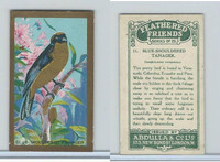 A5-14 Abdulla, Feathered Friends, 1935, #11 Blue Shouldered Tanager