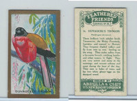 A5-14 Abdulla, Feathered Friends, 1935, #14 Duvaucel's Trogon