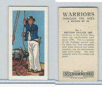 B0-0 Barratt, Warriors Through Ages, 1962, #1 British Sailor 1805