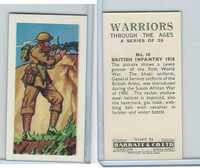B0-0 Barratt, Warriors Through Ages, 1962, #10 British Infantry 1918