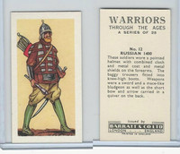 B0-0 Barratt, Warriors Through Ages, 1962, #12 Russian 1400