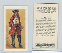 B0-0 Barratt, Warriors Through Ages, 1962, #13 French 1709