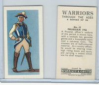 B0-0 Barratt, Warriors Through Ages, 1962, #15 Prussian 1756