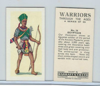 B0-0 Barratt, Warriors Through Ages, 1962, #16 Egyptian