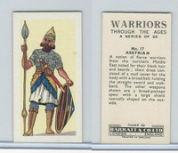 B0-0 Barratt, Warriors Through Ages, 1962, #17 Assyrian