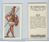 B0-0 Barratt, Warriors Through Ages, 1962, #18 Greek