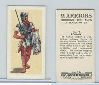 B0-0 Barratt, Warriors Through Ages, 1962, #19 Roman