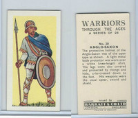 B0-0 Barratt, Warriors Through Ages, 1962, #20 Anglo-Saxon