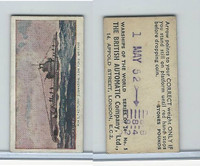 B0-0 British Automatic, Warships World, 1954, #5 H.M.S. Taciturn Submarine