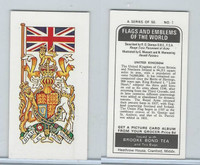 B0-0 Brooke Bond Tea, Flags & Emblems, 1973, #1 United Kingdom