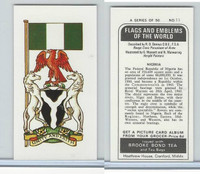 B0-0 Brooke Bond Tea, Flags & Emblems, 1973, #11 Nigeria