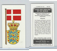 B0-0 Brooke Bond Tea, Flags & Emblems, 1973, #26 Denmark