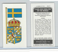 B0-0 Brooke Bond Tea, Flags & Emblems, 1973, #27 Sweden