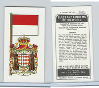 B0-0 Brooke Bond Tea, Flags & Emblems, 1973, #30 Monaco