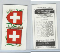 B0-0 Brooke Bond Tea, Flags & Emblems, 1973, #31 Switzerland