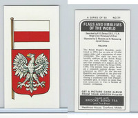 B0-0 Brooke Bond Tea, Flags & Emblems, 1973, #34 Poland