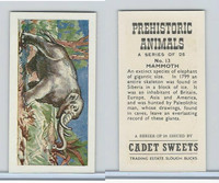 C0-0 Cadet Sweets, Prehistoric Animals, 1961, #13 Mammoth