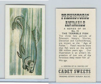 C0-0 Cadet Sweets, Prehistoric Animals, 1961, #15 Terrible Fish