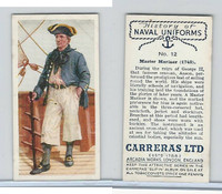 C18-56 Carreras, History Naval Uniforms, 1937, #12 Master Mariner (1740)