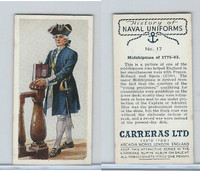 C18-56 Carreras, History Naval Uniforms, 1937, #17 Midshipman of 1775-83