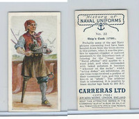 C18-56 Carreras, History Naval Uniforms, 1937, #22 Ships Cook (1790)