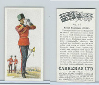 C18-55 Carreras, History Army Uniforms, 1937, #14 Royal Engineers (1864)