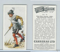 C18-55 Carreras, History Army Uniforms, 1937, #15 First Foot Guards (1660)