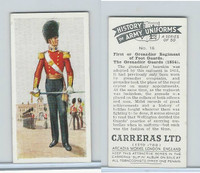 C18-55 Carreras, History Army Uniforms, 1937, #16 The Grenadier Guards (1854)