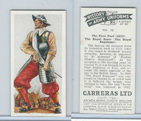 C18-55 Carreras, History Army Uniforms, 1937, #19 The First Foot (1633)