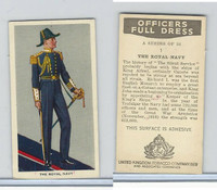 U10-3 U.K. Tobacco, Officers Full Dress, 1936, #1 Royal Navy