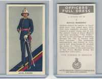 U10-3 U.K. Tobacco, Officers Full Dress, 1936, #2 Royal Marines