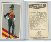U10-3 U.K. Tobacco, Officers Full Dress, 1936, #10 9th Queen's Lancers