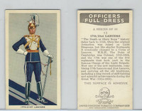 U10-3 U.K. Tobacco, Officers Full Dress, 1936, #13 17th Lancers