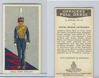 U10-3 U.K. Tobacco, Officers Full Dress, 1936, #14 Royal Horse Artillery