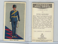 U10-3 U.K. Tobacco, Officers Full Dress, 1936, #15 Royal Artillery