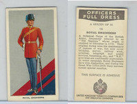 U10-3 U.K. Tobacco, Officers Full Dress, 1936, #16 Royal Engineers