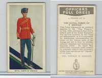 U10-3 U.K. Tobacco, Officers Full Dress, 1936, #17 Royal Corps Of Signal