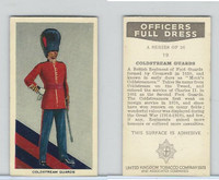 U10-3 U.K. Tobacco, Officers Full Dress, 1936, #19 Coldstream Guards