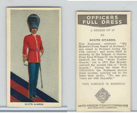 U10-3 U.K. Tobacco, Officers Full Dress, 1936, #20 Scots Guards