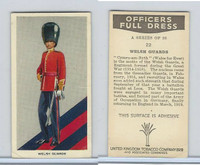 U10-3 U.K. Tobacco, Officers Full Dress, 1936, #22 Welsh Guards